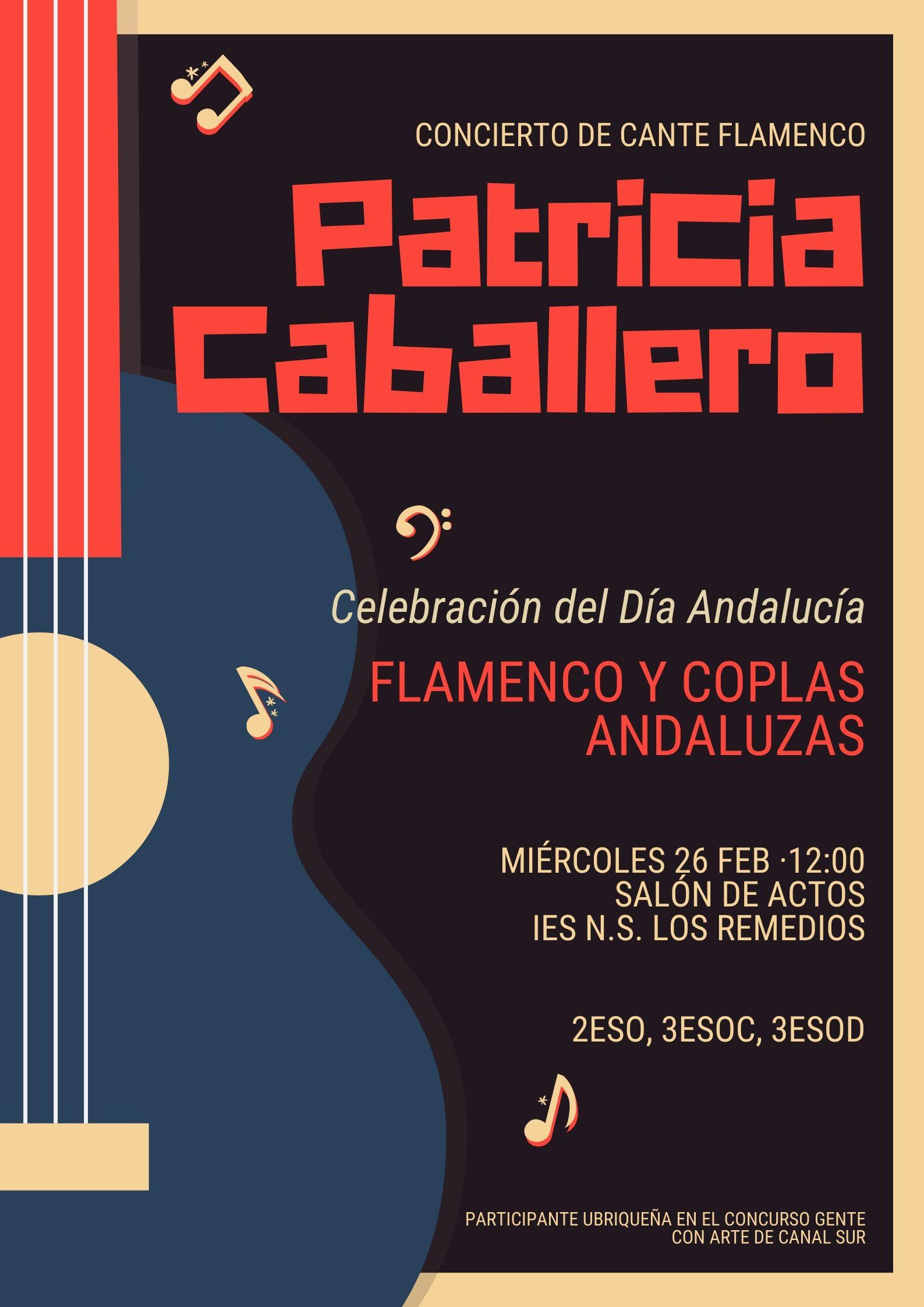 Cartel Concierto Cante Flamenco